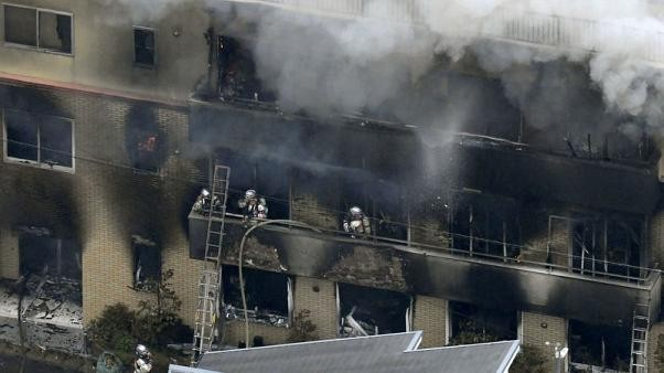 Several feared dead in fire at Japan animation studio