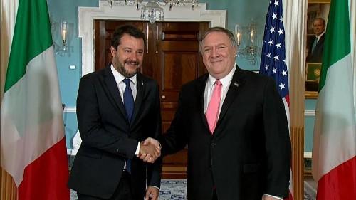 Salvini sublinha sintonia com Trump