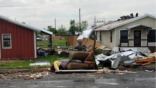 Franklin in Texas nach dem 225 km/h Tornado