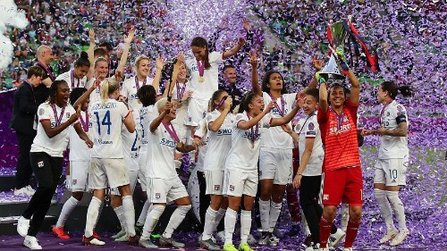 Olympique Lyonnais welcomed home after 6th Women's Champions League win