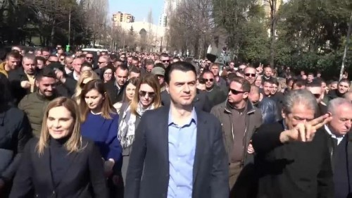Albanian opposition in mass resignation move to demand fresh elections