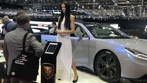 Geneva motor show and the 'booth babes'