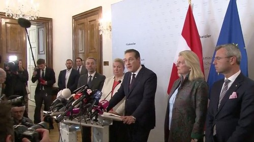 Autria's FPÖ ministers resign en masse to protest colleague's sacking in wake of video scandal