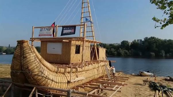 Explorers to sail ancient Black Sea route on reed boat Abora IV