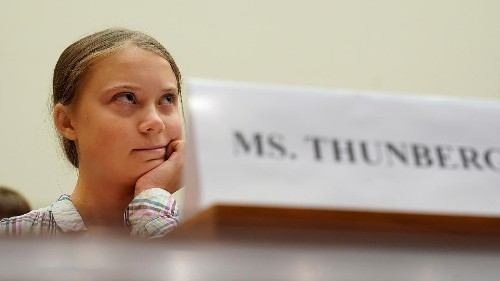 Greta Thunberg tells Congress: 'Unite behind the science'