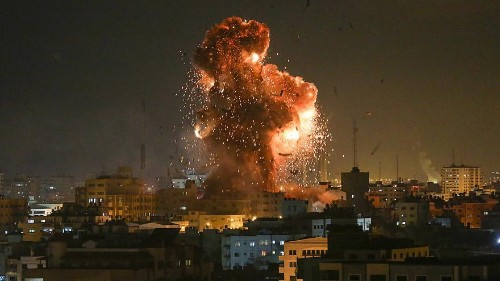 Israel bombs Hamas TV in Gaza