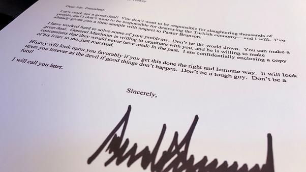 Trump escreveu carta a Erdogan