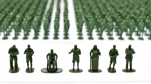 40,000 toy soldiers highlight plight of veterans transitioning to civilian life