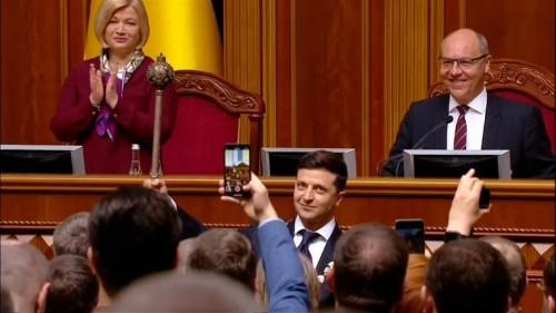 TV comedian Zelensky sworn in as President of Ukraine