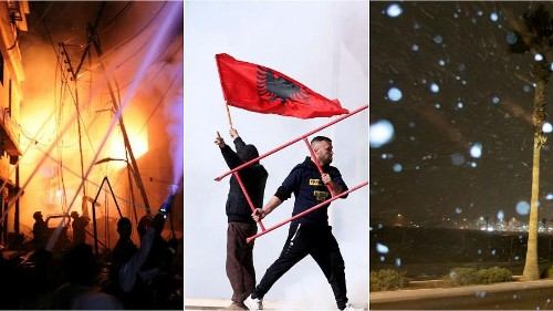 Dhaka fire, Albania clashes, and Las Vegas snow | No Comment videos of the week