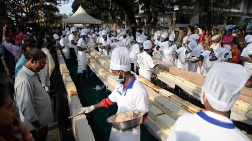 Indians may be record-bakers with the world's longest cake