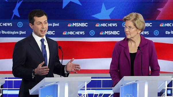 Buttigieg, newly minted front-runner, escapes fifth debate unscathed
