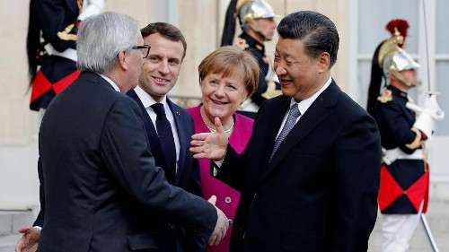 Macron invites Merkel and Juncker for meeting with China's Xi Jinping