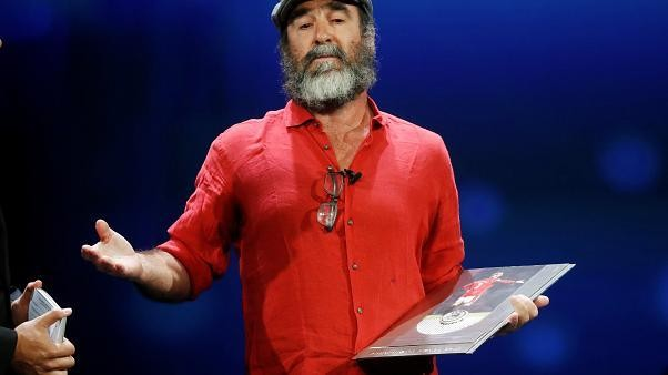 Eric Cantona steals show with Shakespeare at Champions League draw