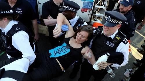 Septième jour de « rébellion écologiste » à Londres