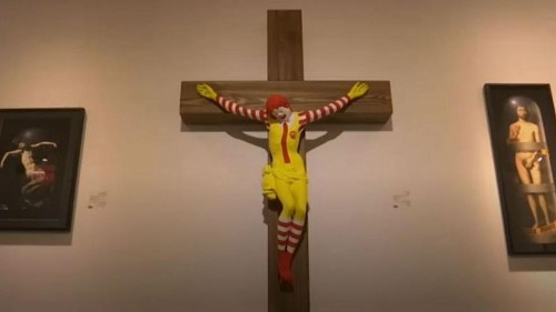'McJesus' causes furore after artist had asked museum to remove the sculpture