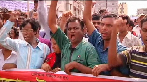 Bangladesh: Protesters call for compensation two years after deadly factory collapse