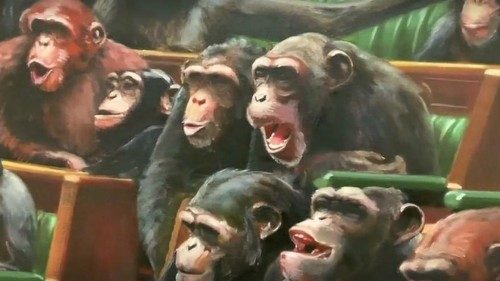 Banksy's 'Devolved Parliament' of chimps back on show in time for Brexit