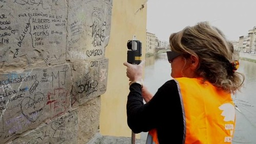 Watch: Angels of Beauty erase graffiti from famous Italian facades using lasers