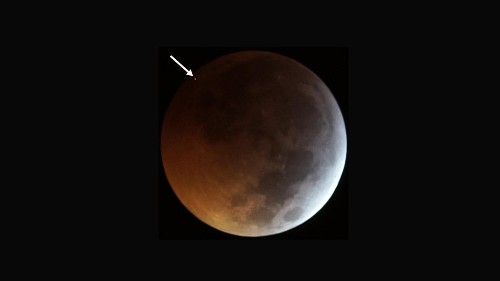 Watch the moon get rocked by a meteorite during the lunar eclipse