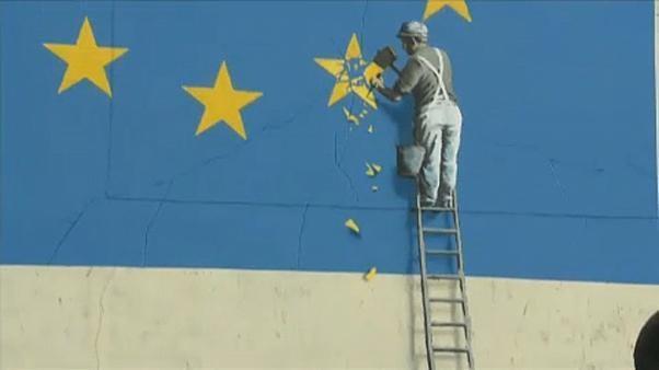 Rätselhaft: Banksys Brexit-Wandbild in Dover übermalt