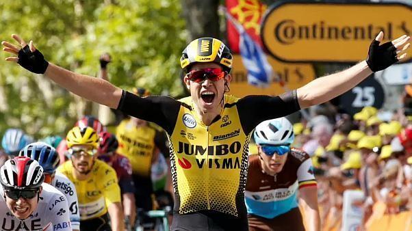 Tour de France: Belgier @WoutvanAert gewinnt zehnte Etappe.