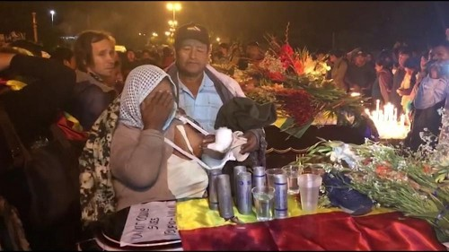 Vigil in Bolivia after supporters of ousted Morales are shot dead