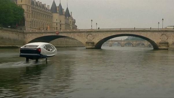 Watch: Paris tests 'flying taxi' as future of city transport