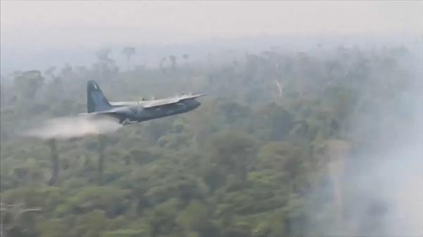 Bolsonaro aprova milhões para combate militar ao fogo na Amazónia