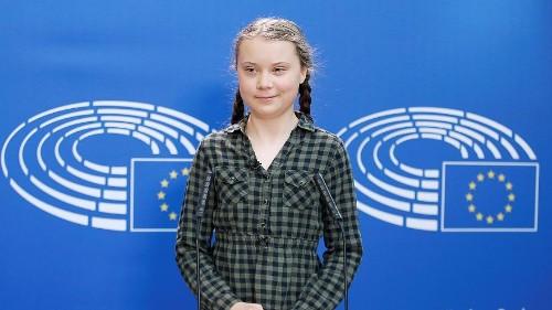 Greta Thunberg klímaaktivista az Európai Parlamentben