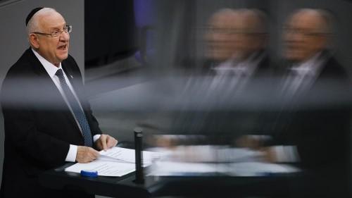 Gemeinsames Gedenken an NS-Opfer: Rivlin und Steinmeier im Bundestag