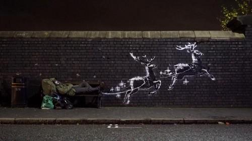 Avec sa nouvelle fresque, Banksy dénonce le sort des sans-abri