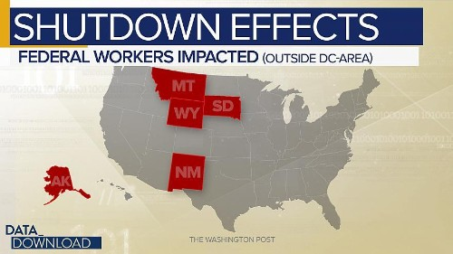 Shutdown Effects: Economic costs far from DC