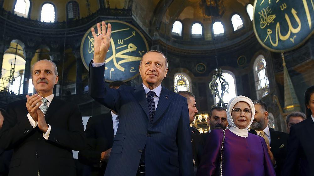 En Russie, les plans d'Erdogan pour Sainte-Sophie ne passent pas