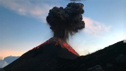 Hikers capture eruption of Guatemala's Fuego Volcano