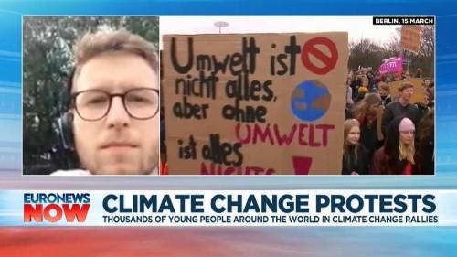 Climate change narrative shifting dramatically, says student organiser