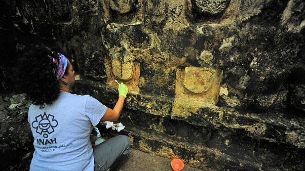 Ancient Mayan palace unearthed in Mexico