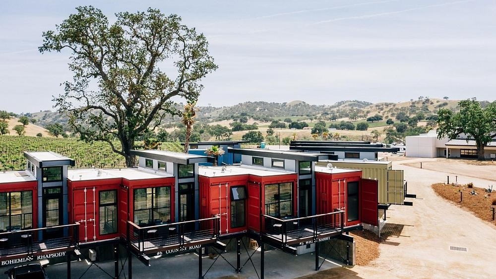 These old shipping containers have been turned into a luxurious hotel