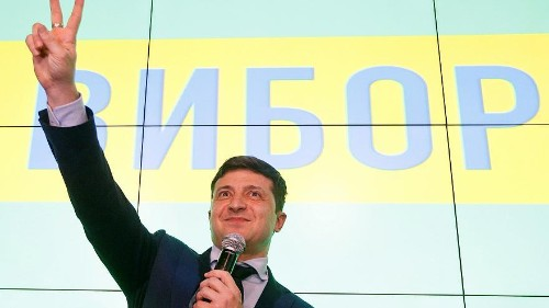 What is known of Ukraine presidential frontrunner Volodymyr Zelenskiy's policies?