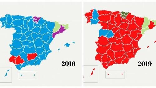 Elezioni, la Spagna cambia colore: dal blu del PP al rosso socialista