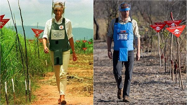 Prince Harry follows in footsteps of his mum Princess Diana to clear Angola landmine 22 years later