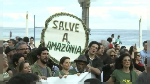 'Bol$onaro is burning our future', say protesters in Rio de Janeiro
