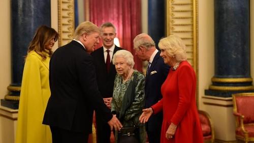 Queen Elizabeth hosts NATO leaders at Buckingham Palace
