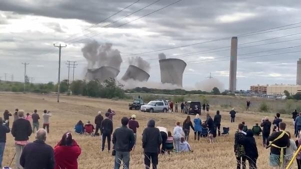 Watch: Landmark Didcot cooling towers destroyed in controlled explosion