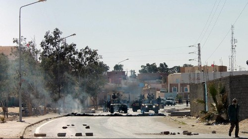 Strike and protests on Tunisia-Libya border amid anger over tax