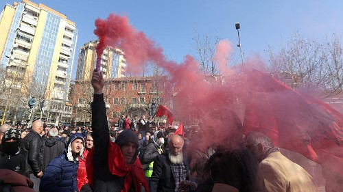 Fresh opposition protests in Albania over accusations of government links to organised crime
