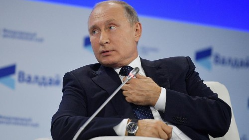 Putin blames 'globalisation' for Crimea school shooting