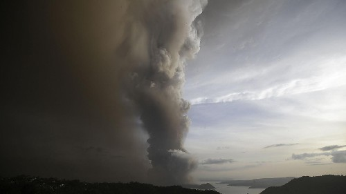 Watch: New ash cloud sparks fears of Taal volcano eruption