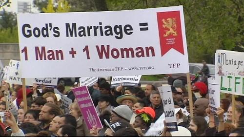 US anti-same sex marriage march in Washington