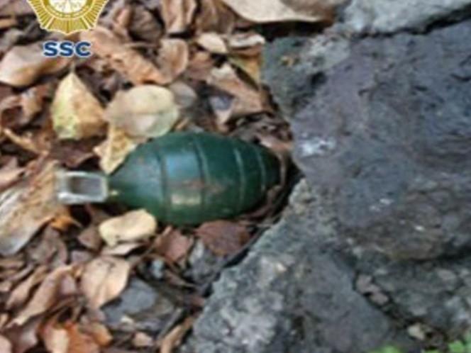 Dejan granada en el jardín de una abuelita en Tlalpan